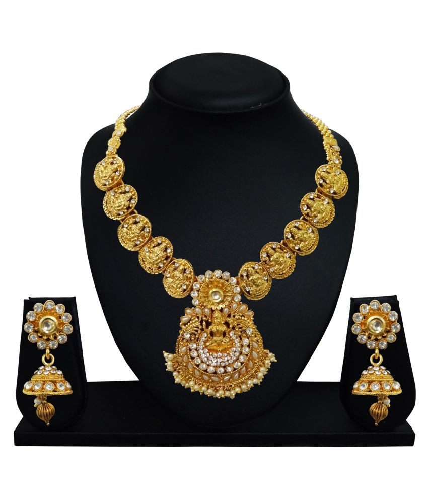 b5c65f5bc TEMPLE JEWELLERY SET - Buy TEMPLE JEWELLERY SET Online at Best Prices in India  on Snapdeal