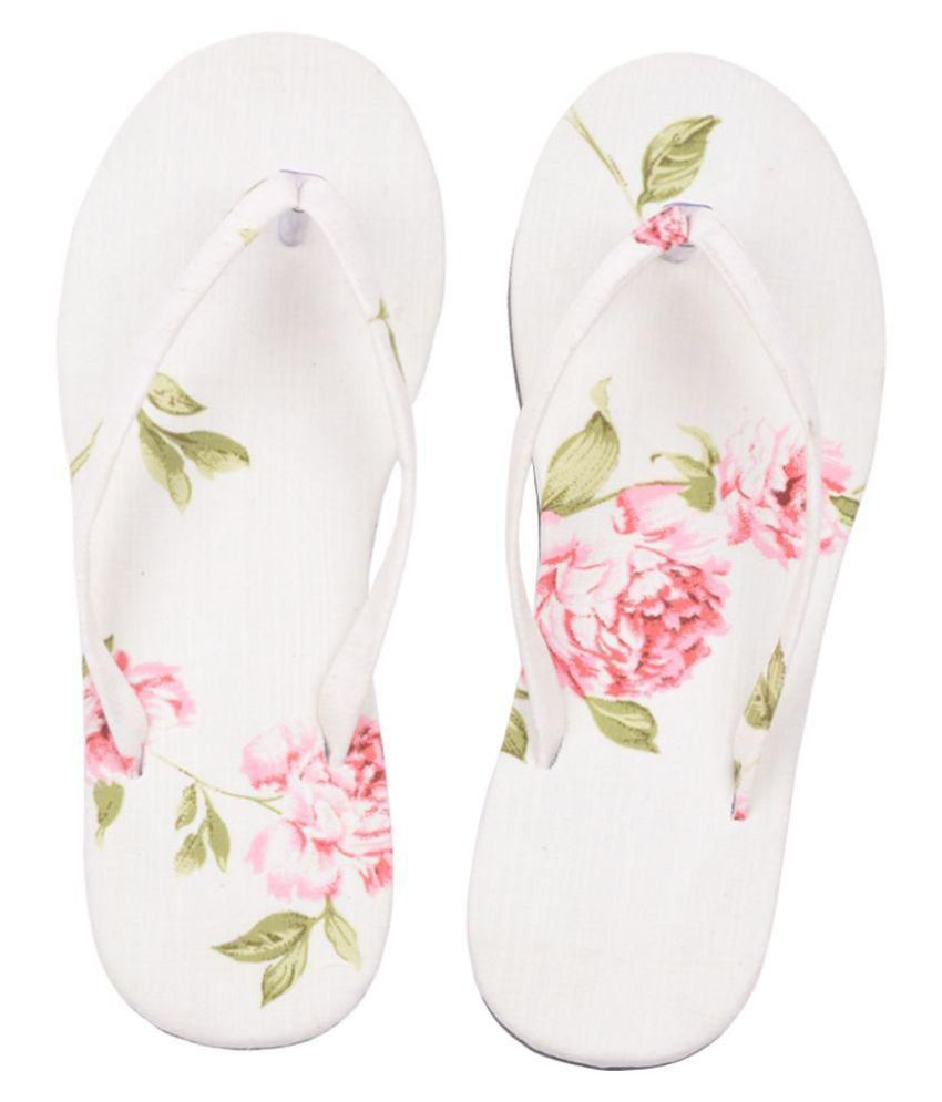 Hve White Slippers
