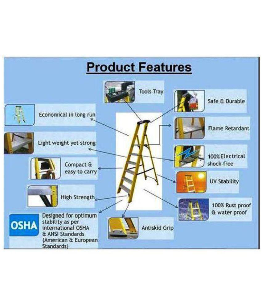 LADDERMAN 5Step Platform FRP Ladder (Self Supported
