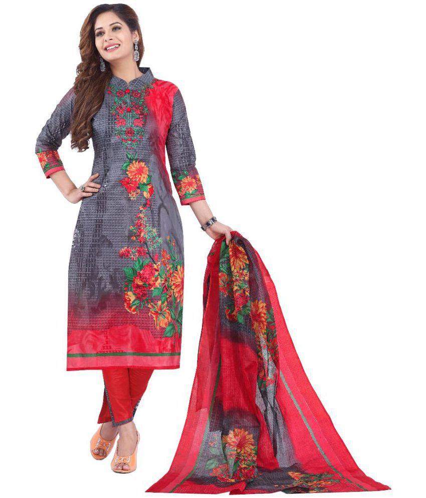 A@ru Multicoloured Cotton Dress Material