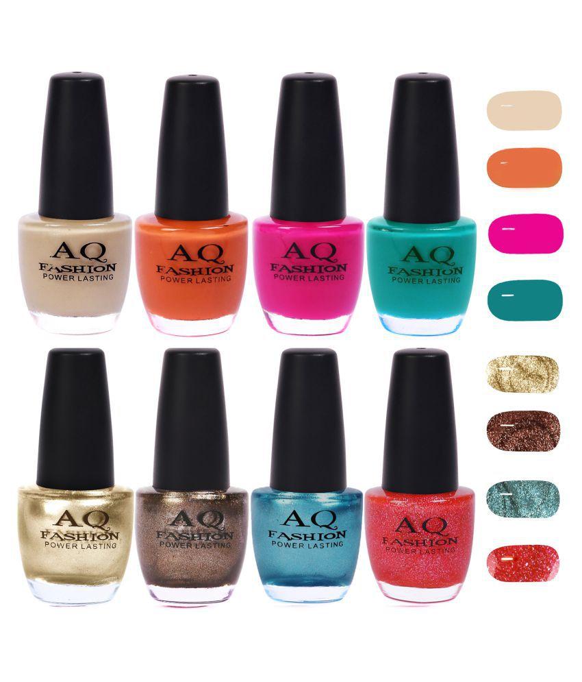 AQ Fashion Nail Polish Funky Vibrant Range of Colors Matte 96 ml