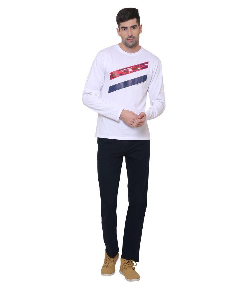EBONY & IVORY White Round T-Shirt Pack of 1