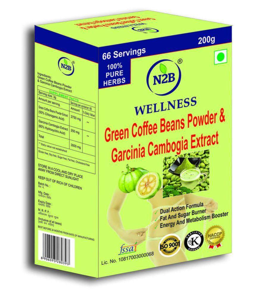 N2B GARCINIACAMBOGIAEXTRACT&GREENCOFFEE200gFORSLIMMING 200 gm Unflavoured