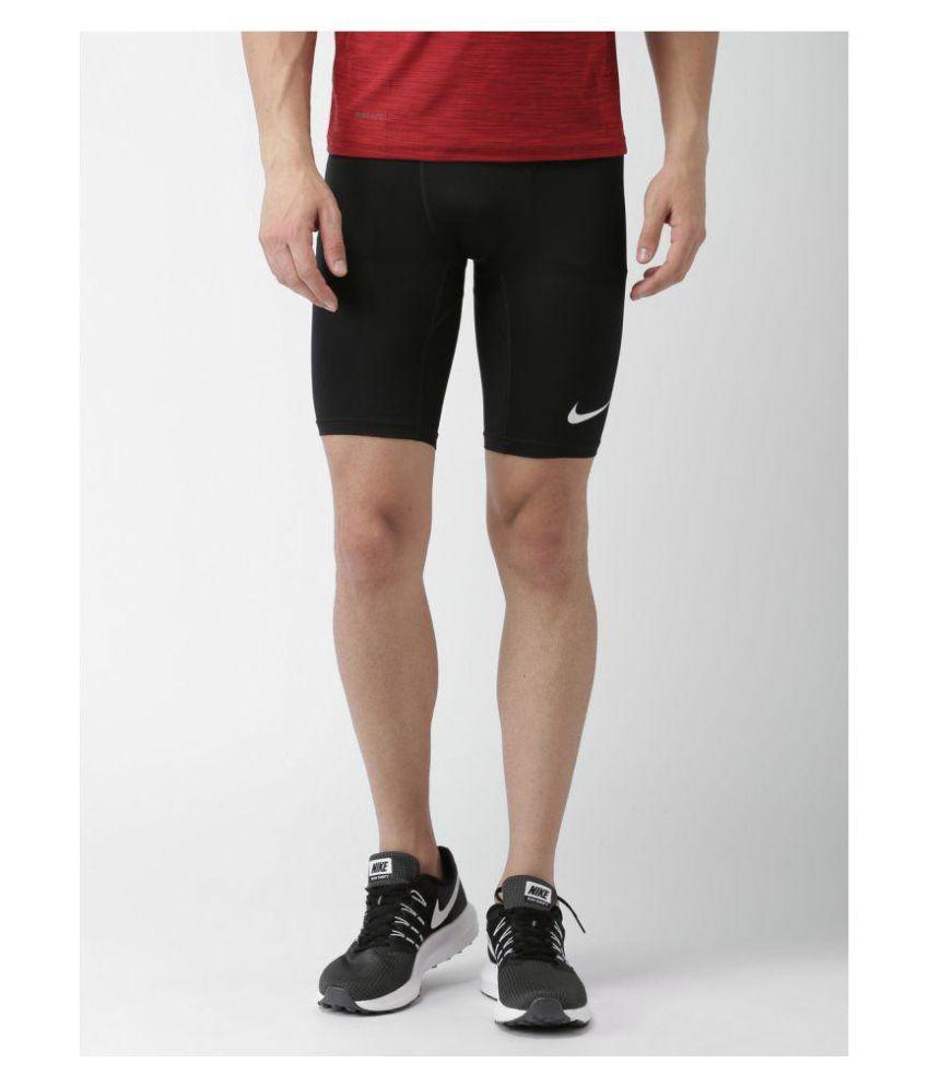 Nike Men's Black  Half Tight