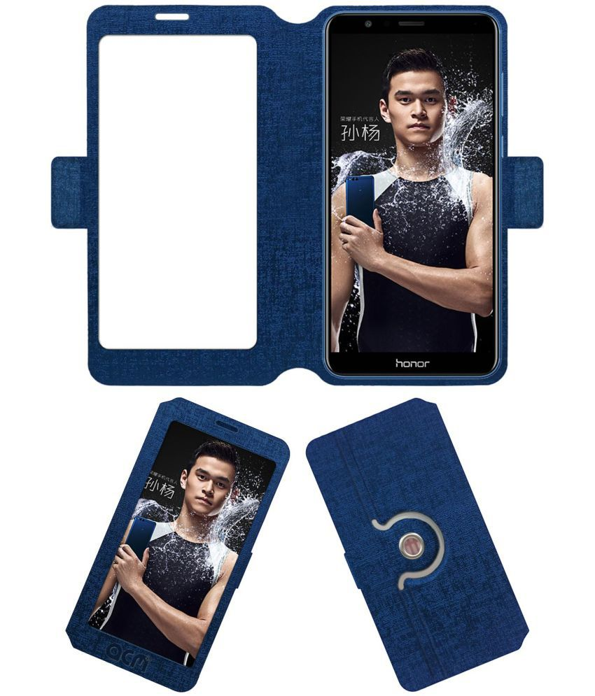 Honor 7X Flip Cover by ACM - Blue