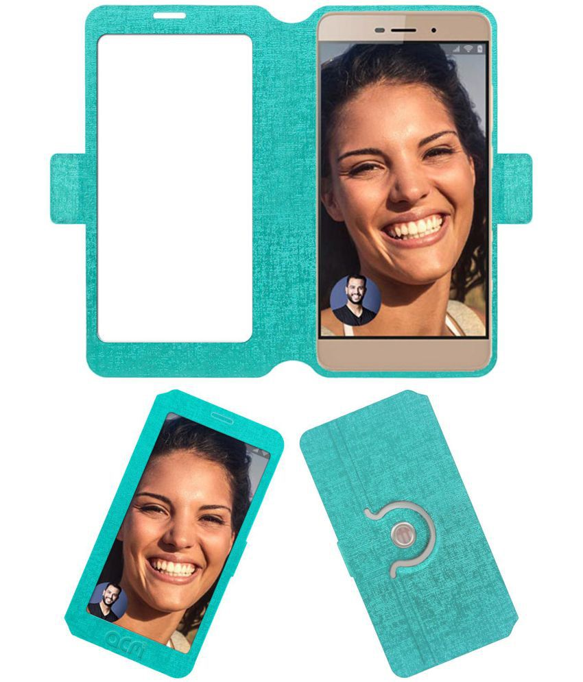 Micromax Vdeo 5 Q4220 Flip Cover by ACM - Blue