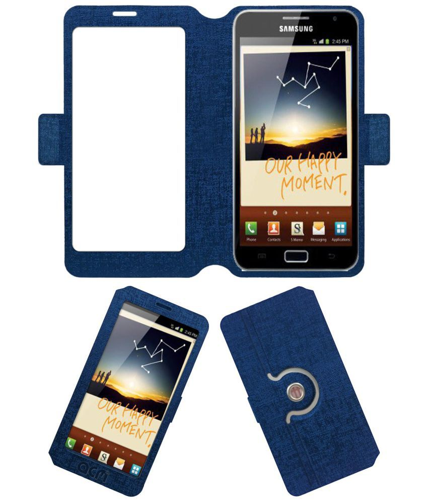 Samsung Galaxy Note N7000 Flip Cover by ACM - Blue