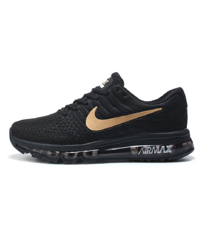 low priced 555bf 4fe3a Nike Airmax 2017 Limited Edition Black Gold Running Shoes - Buy Nike Airmax  2017 Limited Edition Black Gold Running Shoes Online at Best Prices in India  on ...