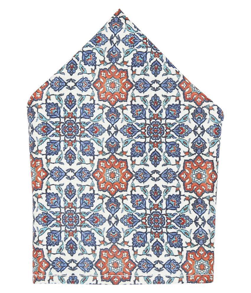 Zido Multicolor Pocket Square for Men PSQ215