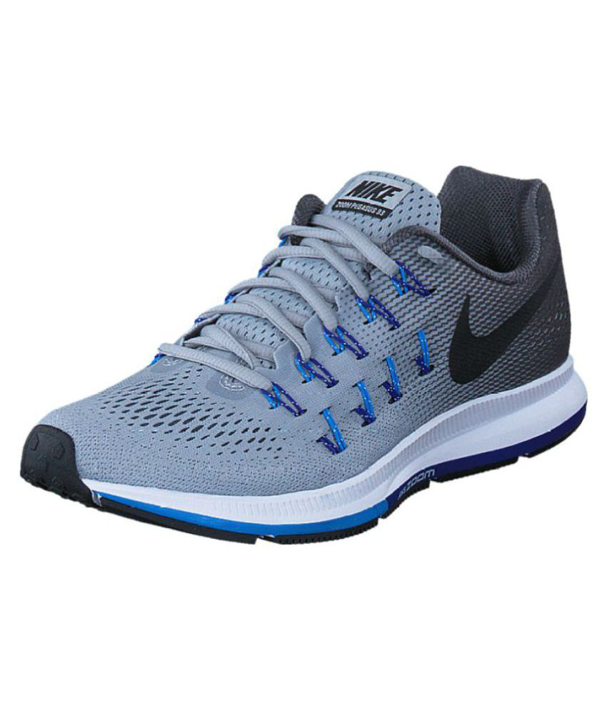 online store 78a79 df65d Nike Zoom Pegasus 33 Silver Running Shoes