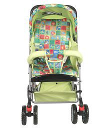 Mee Mee Comfortable Pram with 3 seating position (Green)