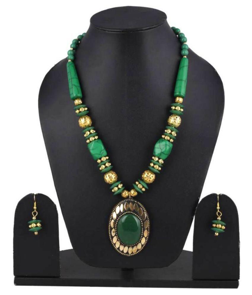 Lourenn Fashion Fiesta Green western Fashion Traditional Casual and party wear Jewellery Handmade handicraft beautiful