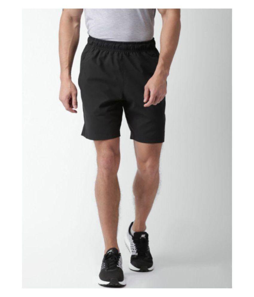 Nike Men Black  And Solid Regular Fit Sports Shorts