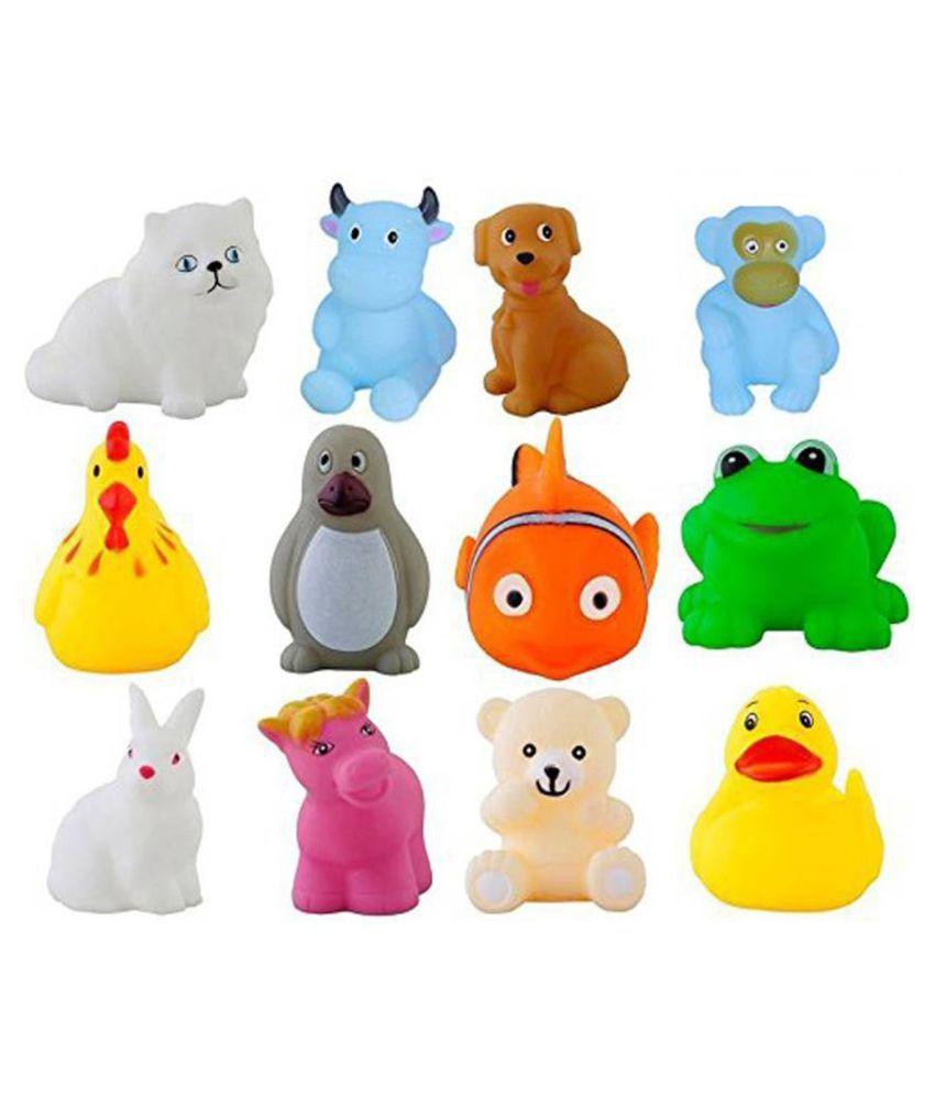 Paruhi 12Pcs Cute Soft Rubber Float Squeeze Sound Baby Bath Play ...