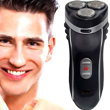 SJ Shaver Rechargeable Triple Bladed Hair with Trimmer Clipper for Men Rotary Shaver ( Black )