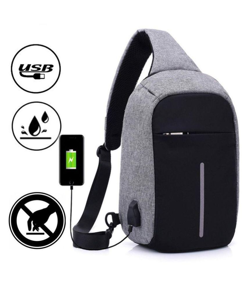a3a2a75194 Allextreme Anti theft with USB Port Grey Business Mini Laptop Backpack -  Buy Allextreme Anti theft with USB Port Grey Business Mini Laptop Backpack  Online ...
