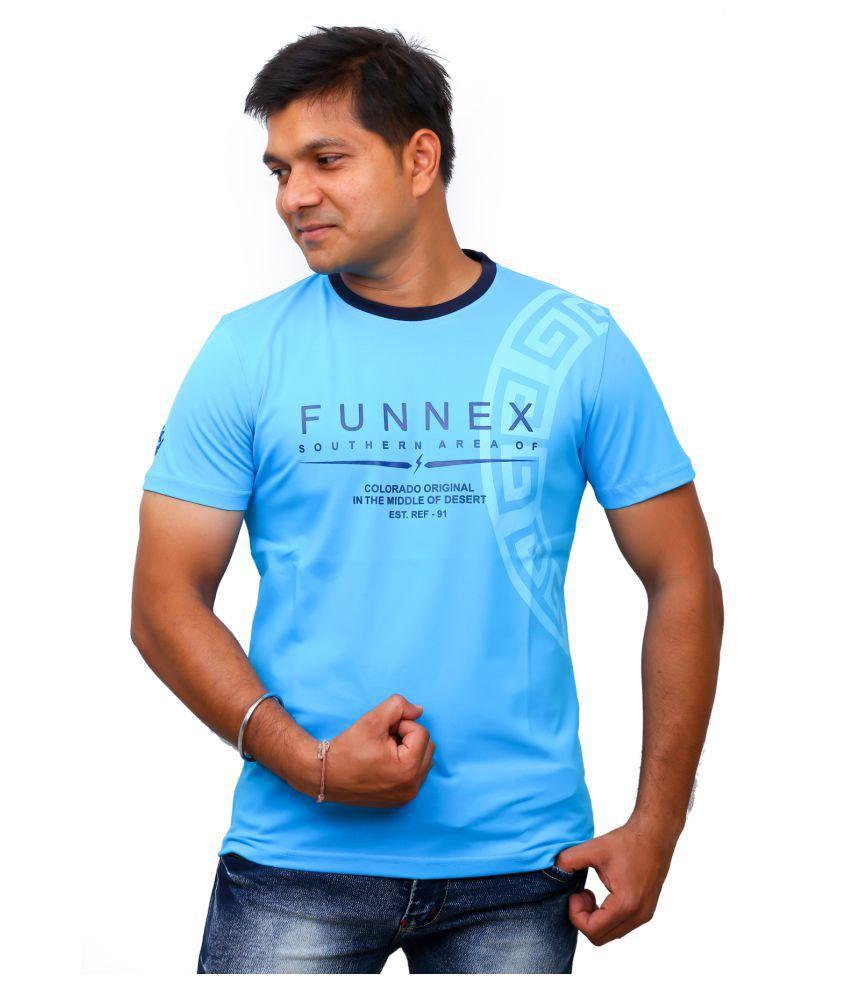 FUNNEX Blue Round T-Shirt Pack of 1