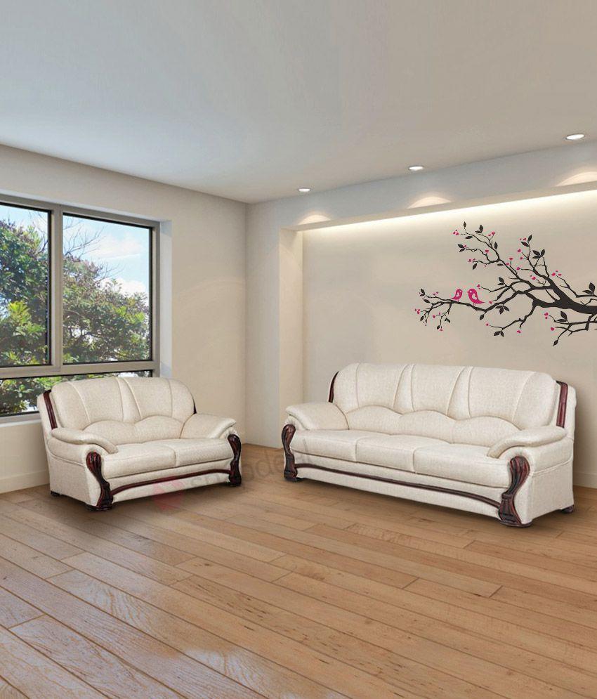 bharat lifestyle china gate ivory fabric 5 seater sofa set 3 2 buy rh snapdeal com
