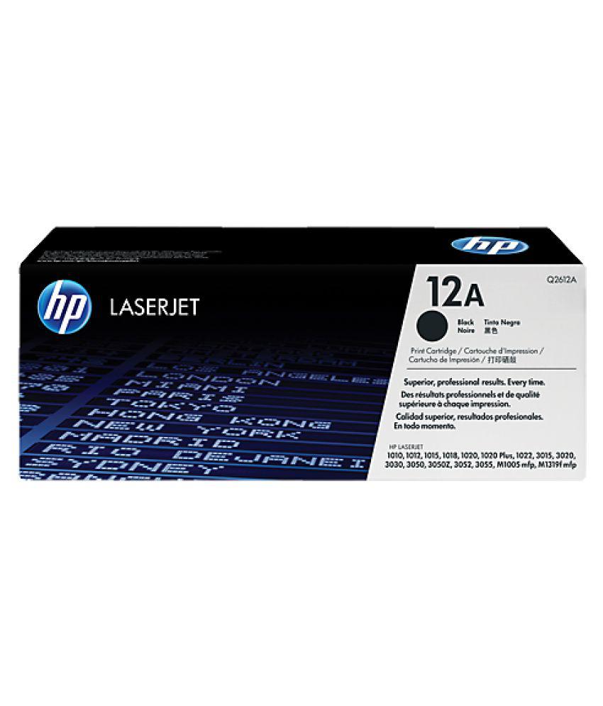 HP Laserjet 12A (Q 2612A) Black Toner Cartridge Single