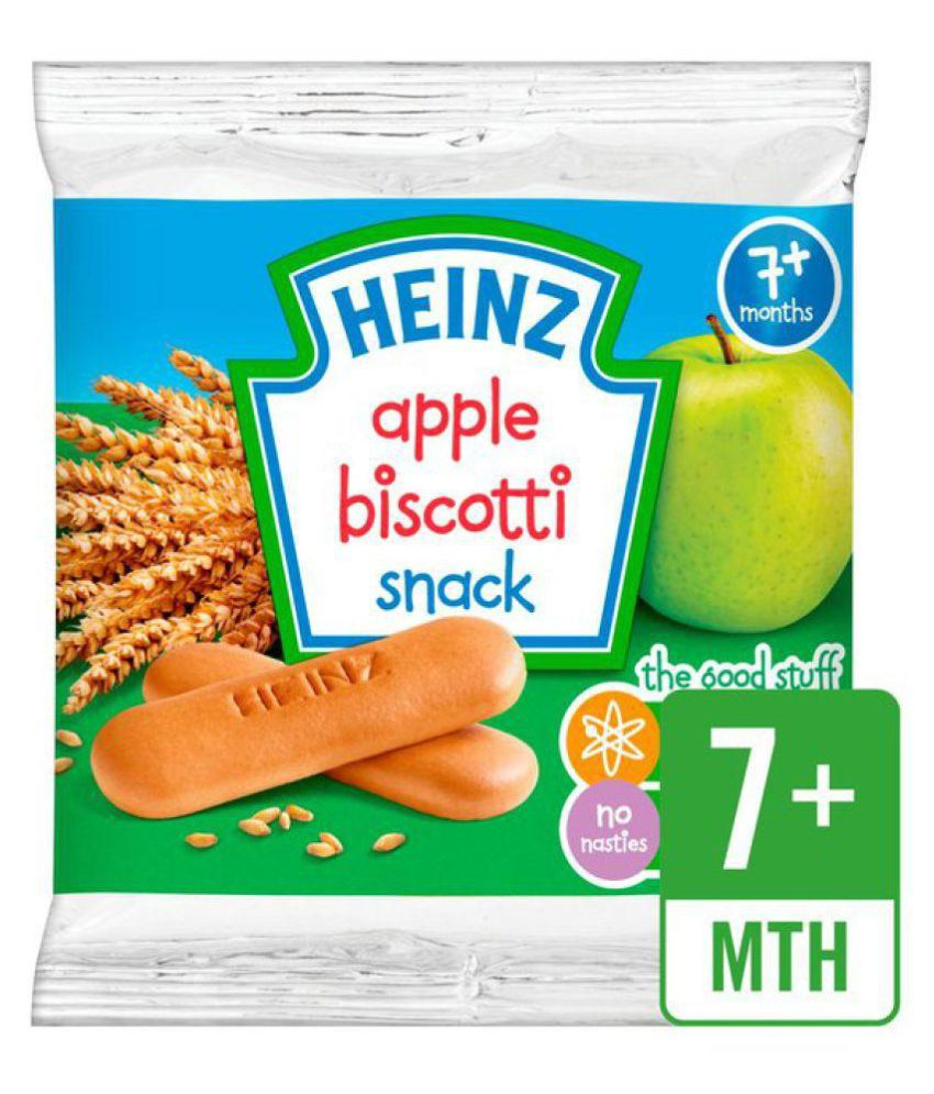 Heinz Baby Snack Apple Biscotti Biscuits for 6 Months + ( 60 gm )