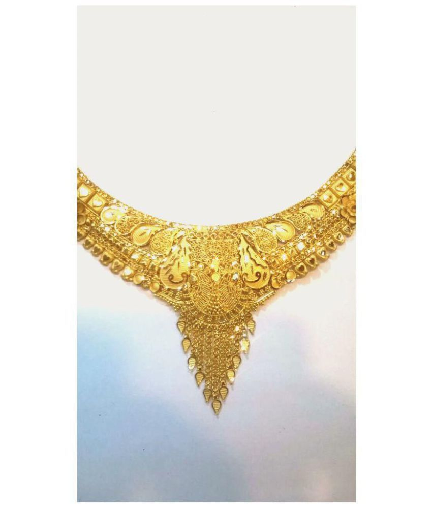 3ce324e5922 Soni Jewellers 22k BIS Hallmarked Gold Necklace: Buy Soni Jewellers ...