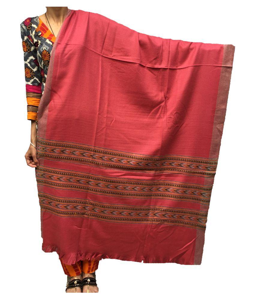 Kashmiri Pink Loom-Woven Shawl