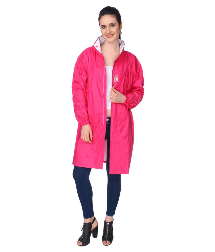 REAL Nylon Long Raincoat - Pink