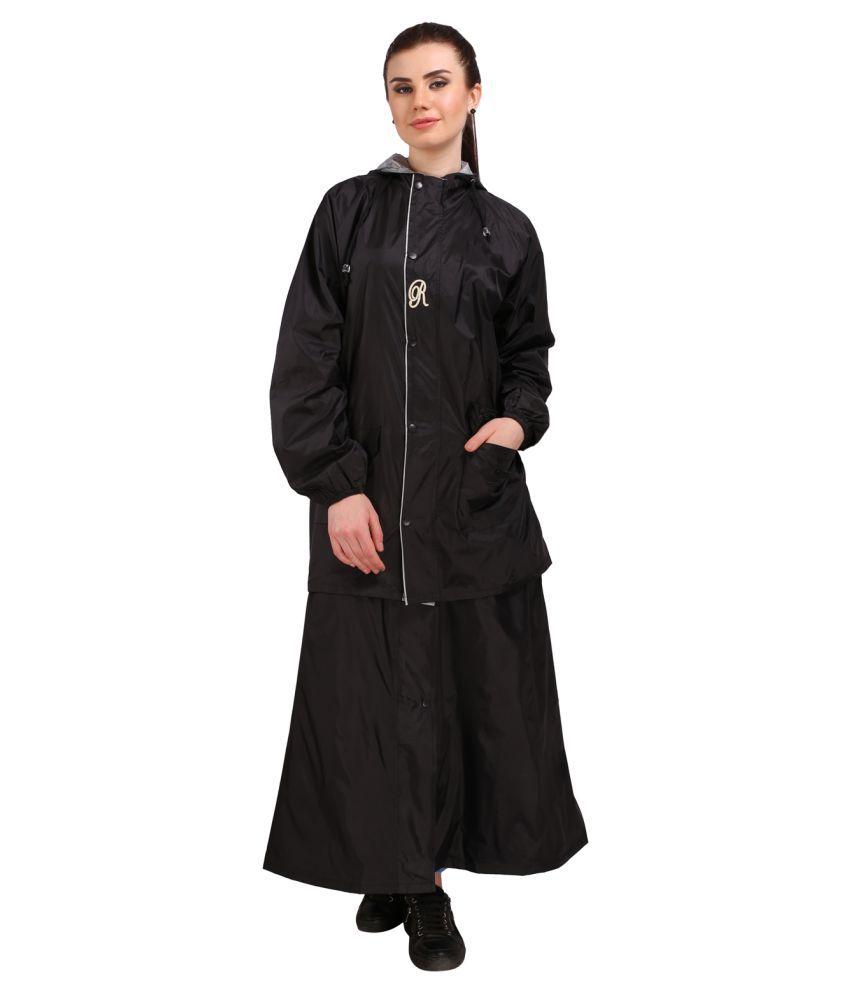 REAL Nylon Raincoat Set - Black