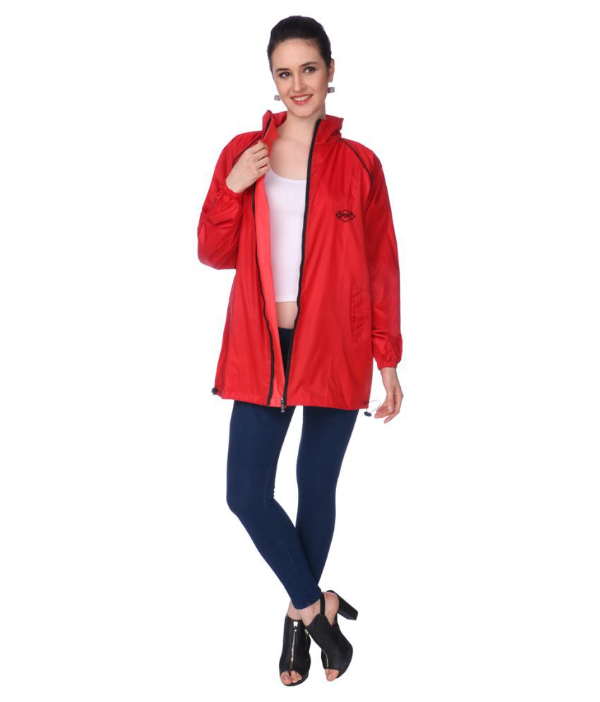 REAL Nylon Short Rainwear - Red