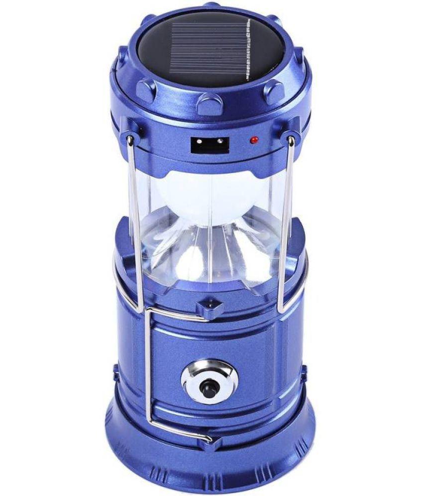 ZEVORA Above 50W Solar Light Blue Led Rechargeable Portable Solar Lamp Blue - Pack of 1