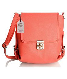 Mammon PeachPuff Artificial Leather Sling Bag