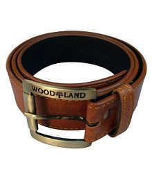Woodland Scenics Brown Faux Leather Casual Belt