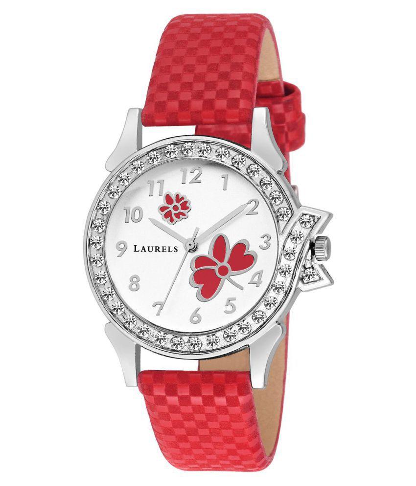 Laurels Bettle White Color Women's Watch- LWW-BTL-011007