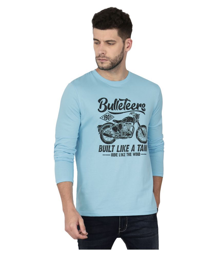 Le Bison Turquoise Round T-Shirt Pack of 1