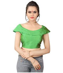 Online Rahbar Green Paper Silk Readymade with Pad Blouse
