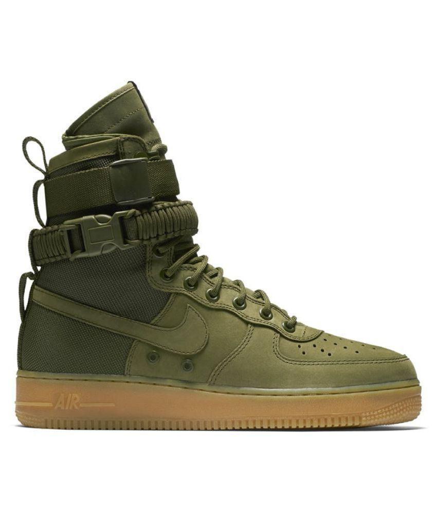 undefeated x many fashionable cheap prices Nike Air Force SF 1 High Green Training Shoes