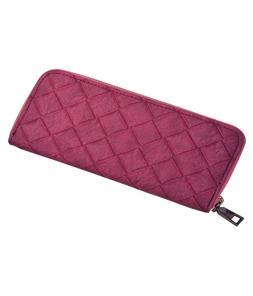 ZELP Purple Pure Leather Handheld