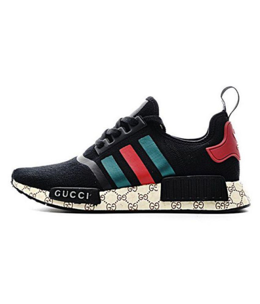adidas nmd gucci black running shoes