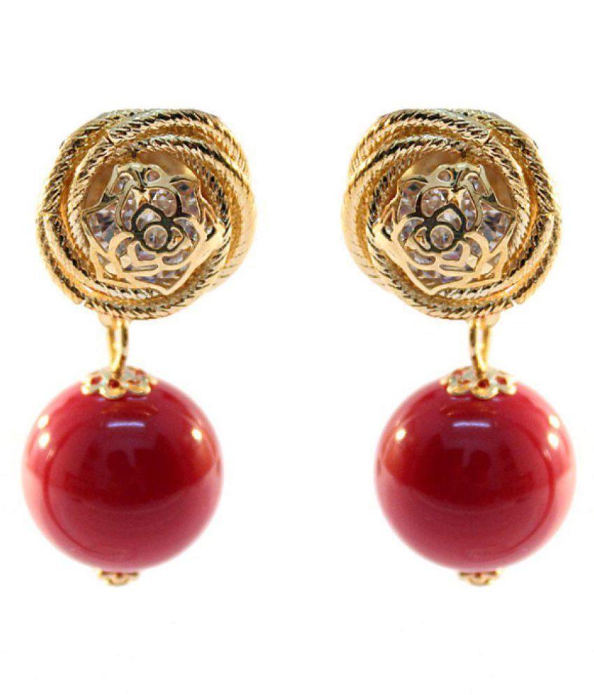 Anamika's Floral Designer Golden Earring