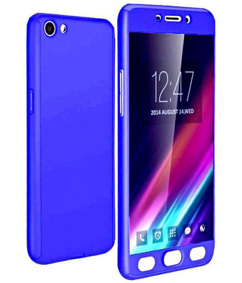 Oppo A83 Plain Cases Bright traders - Blue