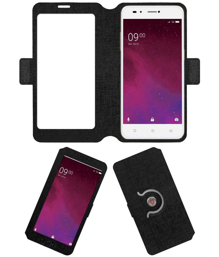 info for d08ad 996ea Lava Z60 Flip Cover by ACM - Black