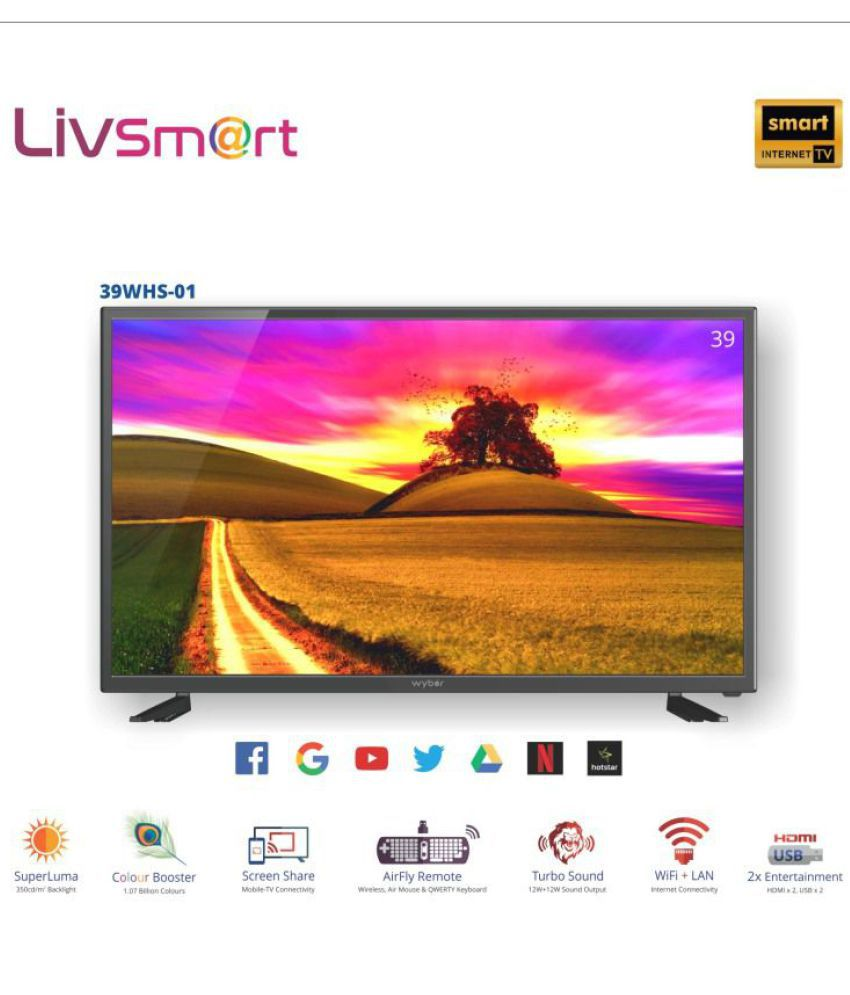 WYBOR 39WHS-01 99 cm ( 39 ) Smart HD Ready (HDR) LED Television With 1+2 Year Extended Warranty