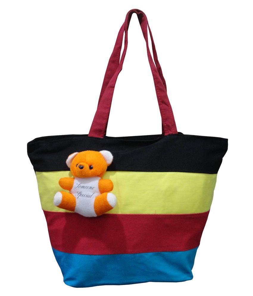 dbd051b31b7e Atorakushon® Multipurpose Carrying Case Women s Elegance Ethnic Cotton with small  teddy Style Handbag Clutches Ladies ...