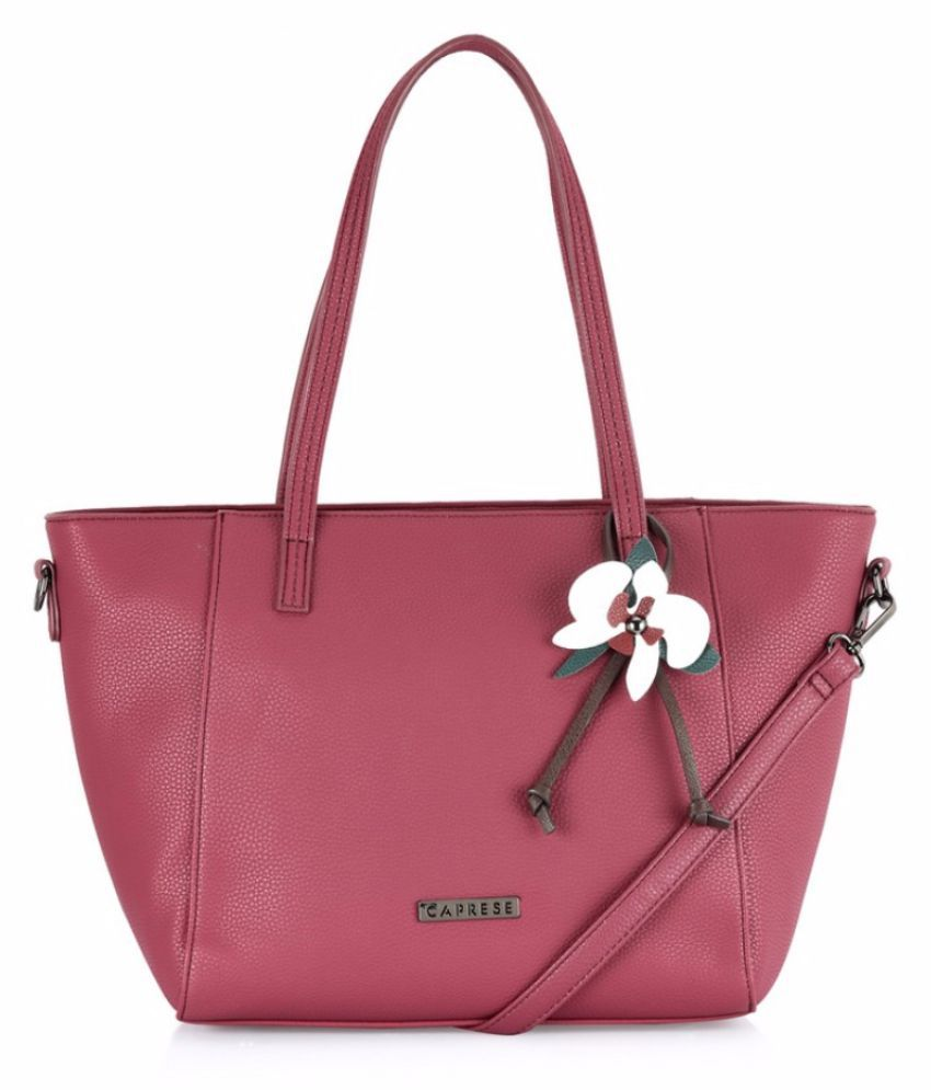 Caprese Pink Faux Leather Sling Bag