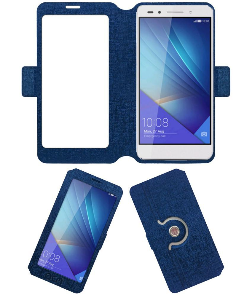 Huawei Honor 7i Flip Cover by ACM - Blue
