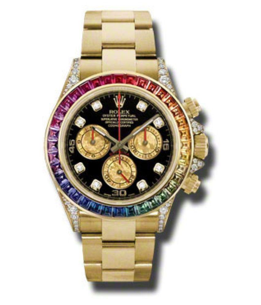 Imported Luxury Branded Watch For Men Gold Tone Steel Metal