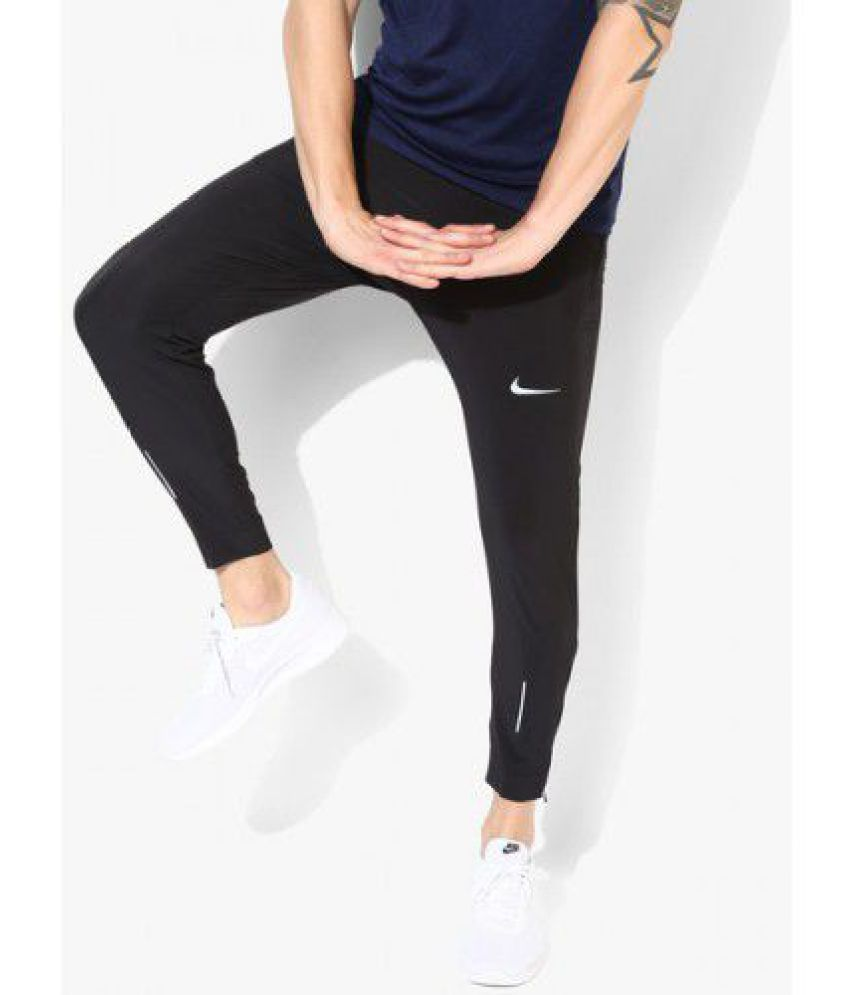 d97fb794d2d97 Black Polyester Lycra Trackpants - Buy Black Polyester Lycra Trackpants  Online at Low Price in India - Snapdeal