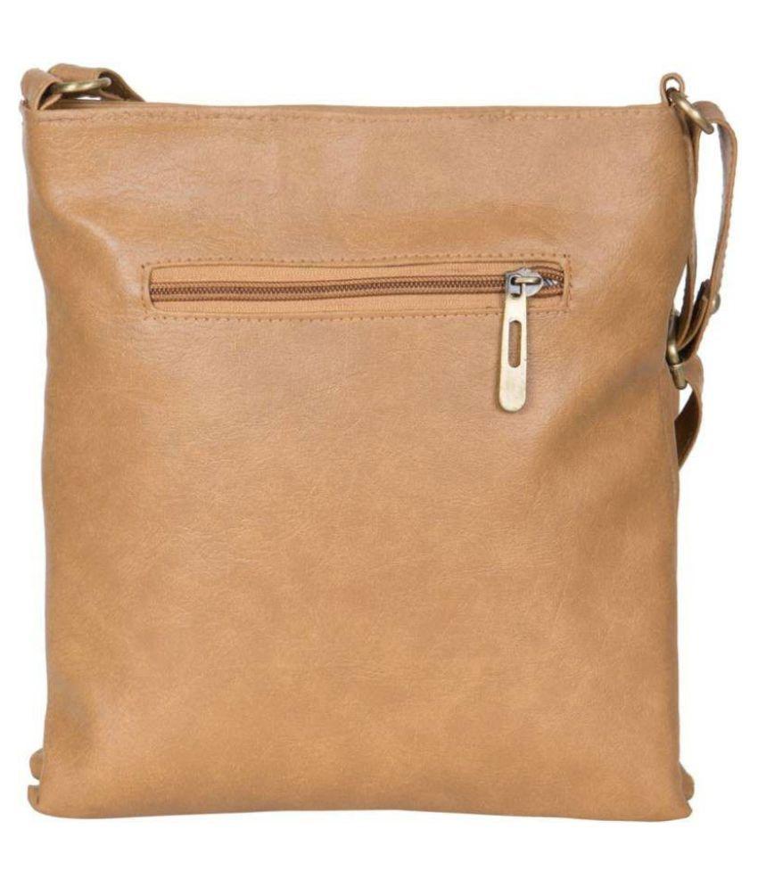 c93c18d9be Ratan s Khaki Faux Leather Sling Bag - Buy Ratan s Khaki Faux ...
