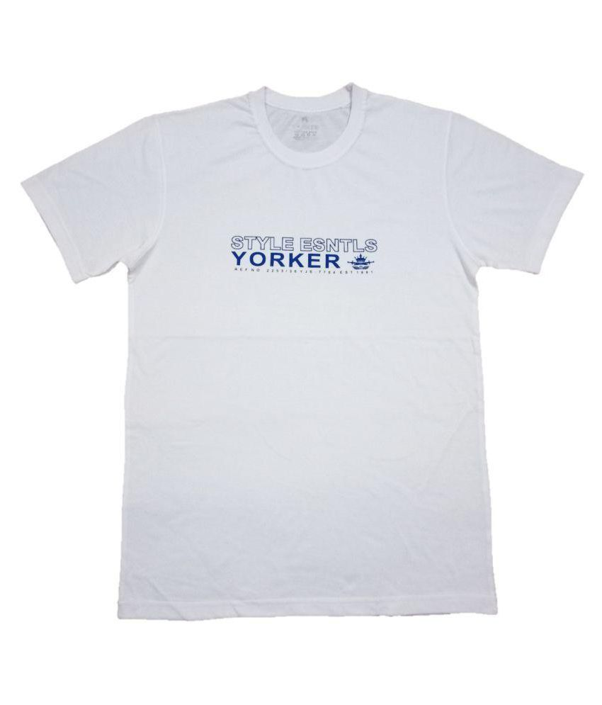 Yorker White Round T-Shirt Pack of 1