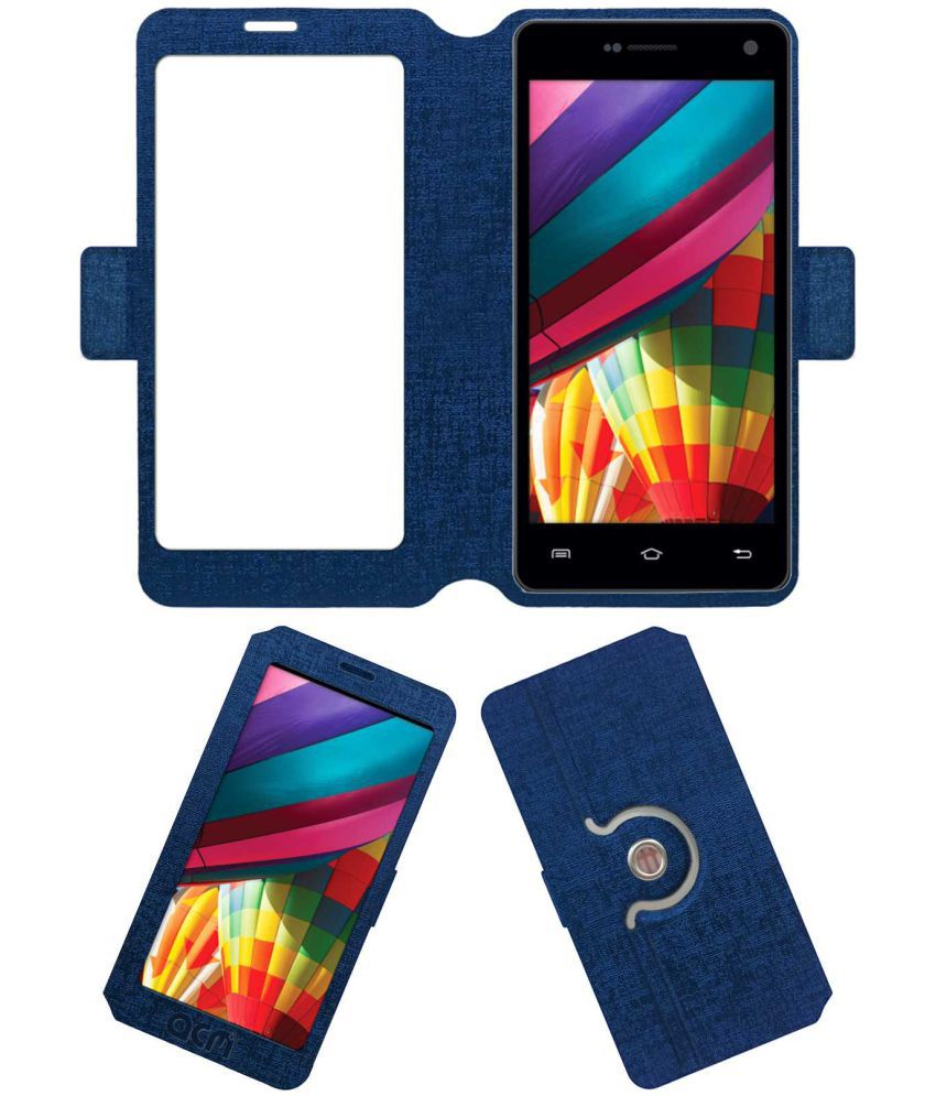 iBall Andi 5S Cobalt 3 Flip Cover by ACM - Blue